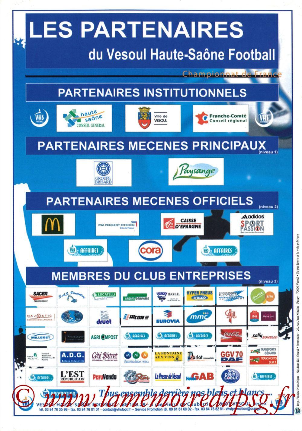 2010-02-09  Vesoul-PSG (8ème CF, Programme officiel) - Page 12