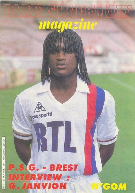 1984-01-24  PSG-Brest (25ème D1, Paris St Germain Magazine N°1)