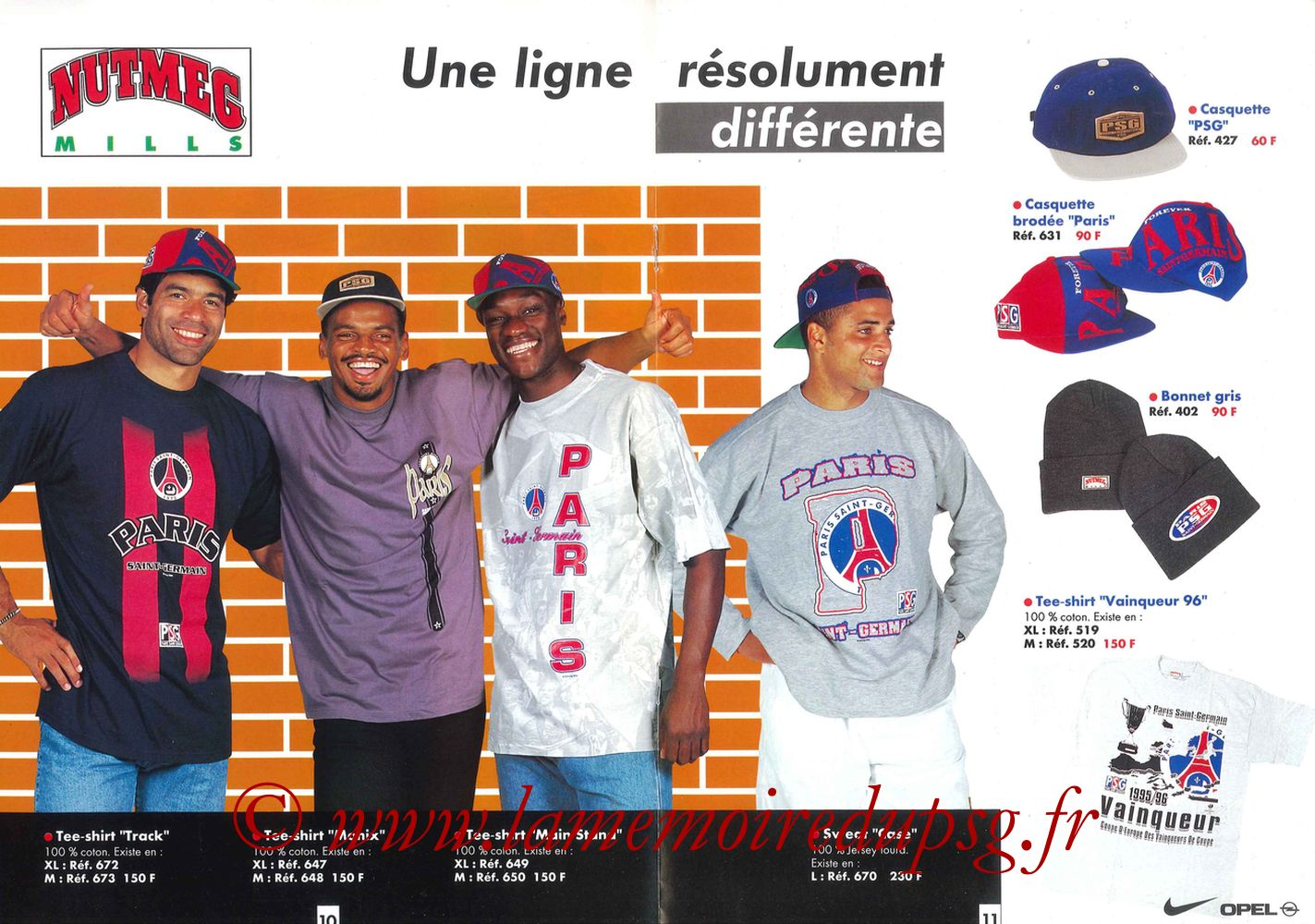 Catalogue PSG - 1996-97 - Pages 10 et 11