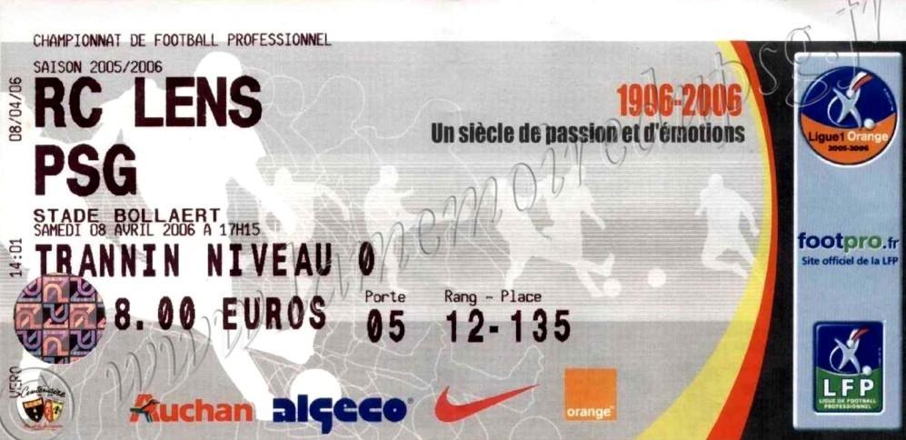 2006-04-08  Lens-PSG (34ème L1)