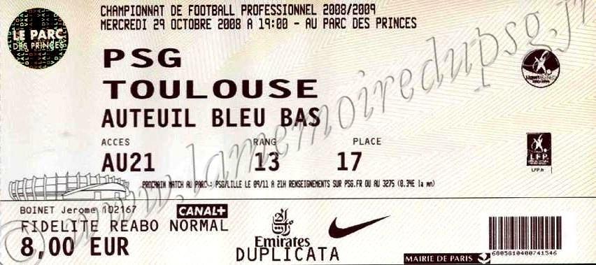 2008-10-29  PSG-Toulouse (11ème L1)
