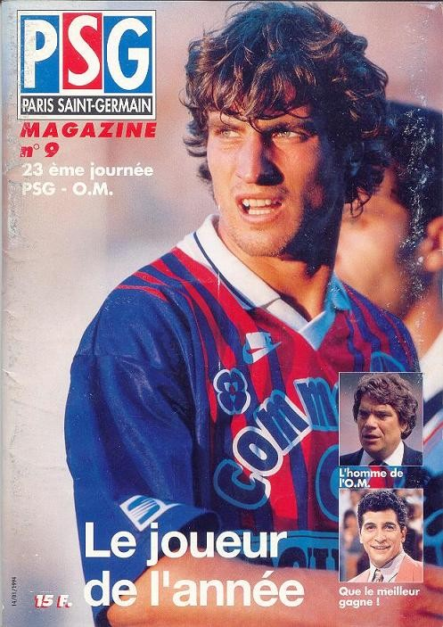 1994-01-15  PSG-Marseille (23ème D1, PSG Magazine N°9)