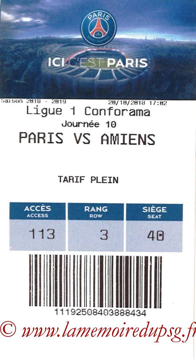 2018-10-20  PSG-Amiens (10ème L1, E-ticket)
