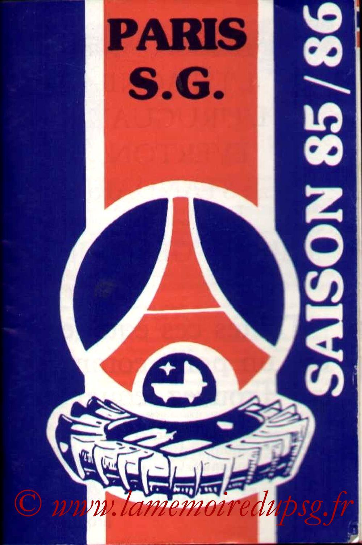 1985-86 - Guide de la Saison PSG