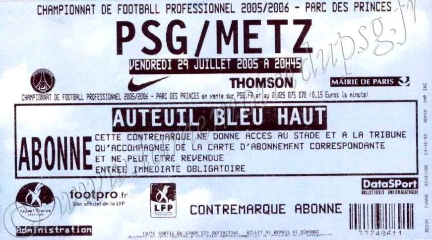 2005-07-29  PSG-Metz (1ère L1)