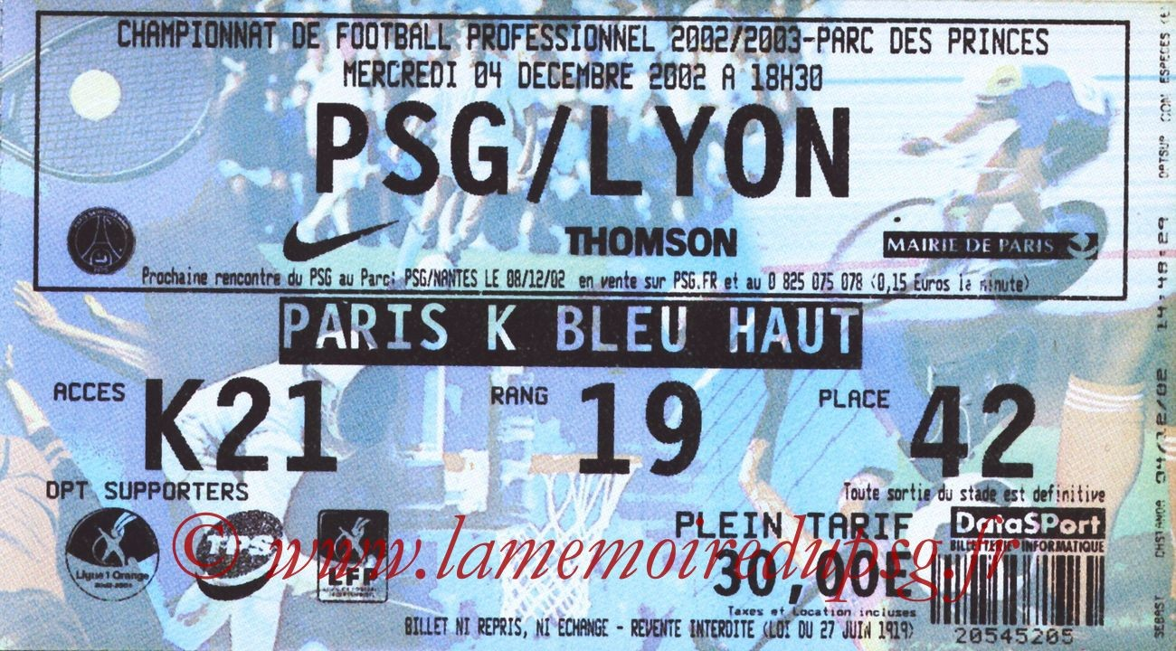 2002-12-04  PSG-Lyon (18ème L1)