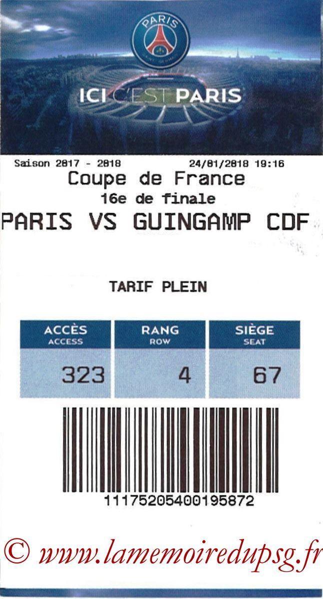 2018-01-24  PSG-Guingamp (16ème CF, E-ticket)