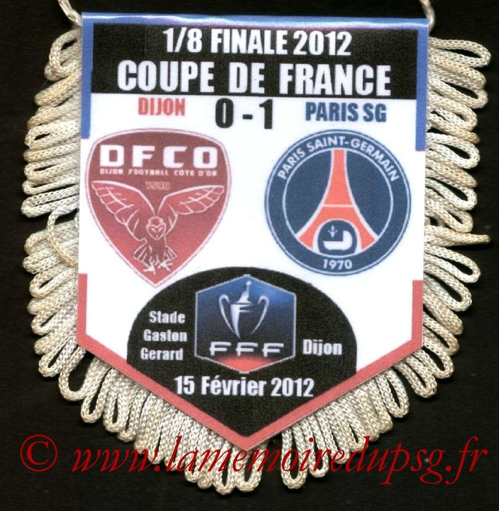 2012-02-15  Dijon-PSG (8ème CF)