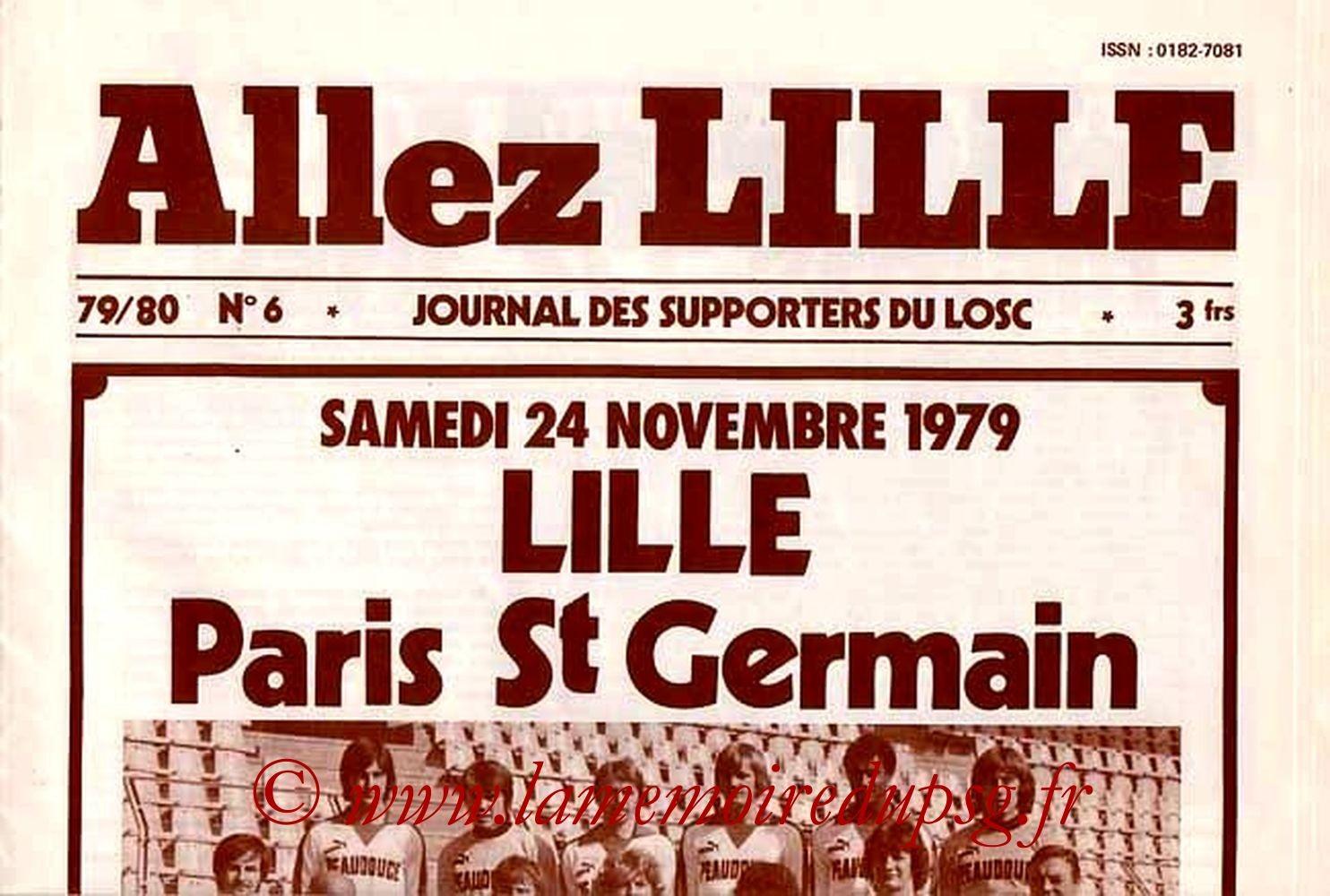 1979-11-24  Lille-PSG (18ème D1, Allez Lille N°6)