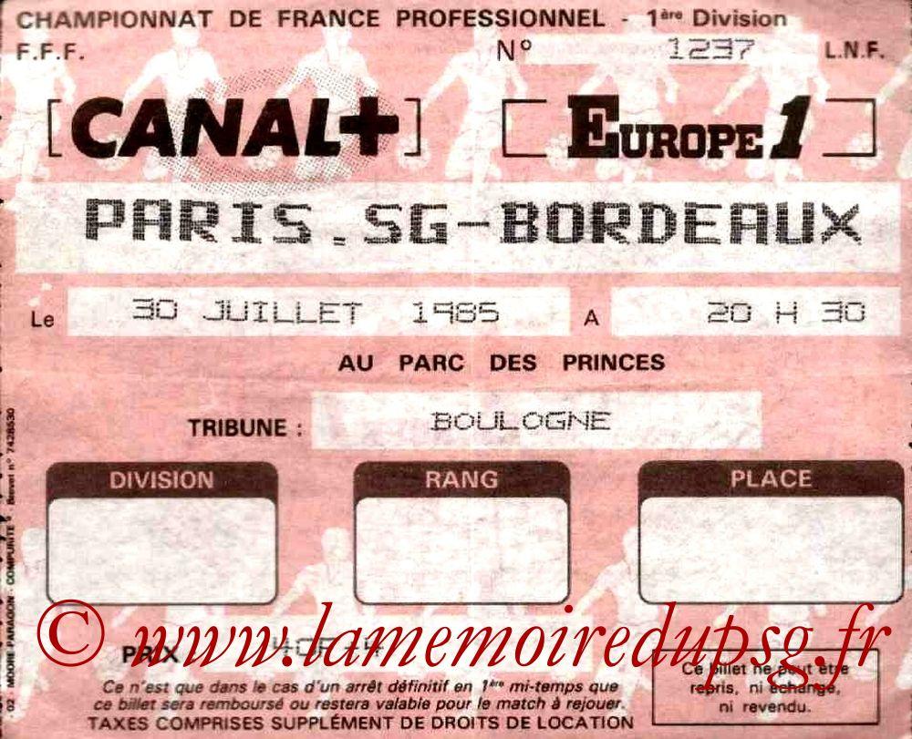 1985-07-30  PSG-Bordeaux (4ème D1)