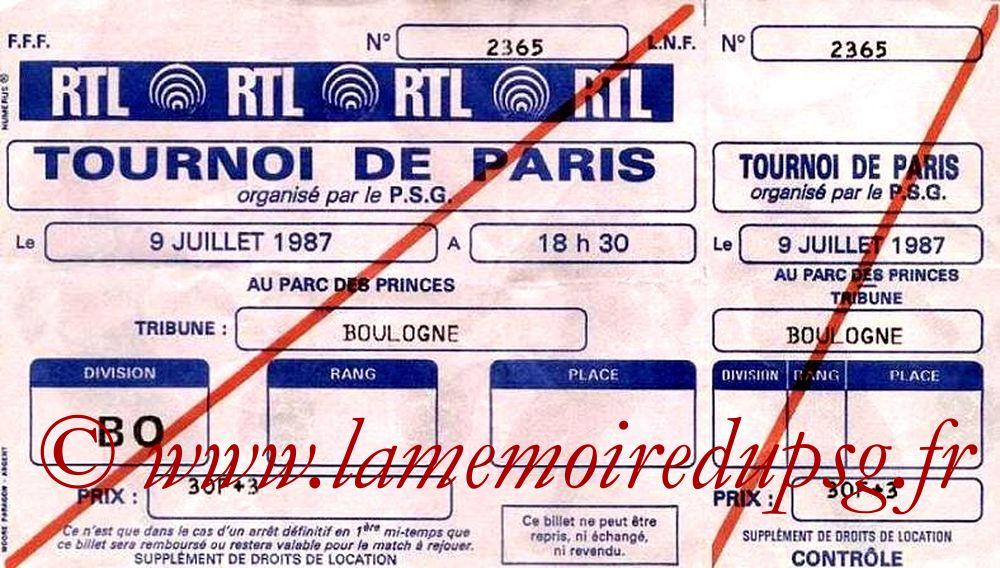 1987-07-09  PSG-Fluminense (Demi Finale du tournoi de Paris, Entier)