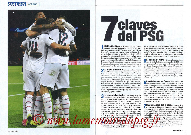 2019-11-26  Real Madrid-PSG (5ème C1, El Balon in the Game N°74) - Pages 20 et 21