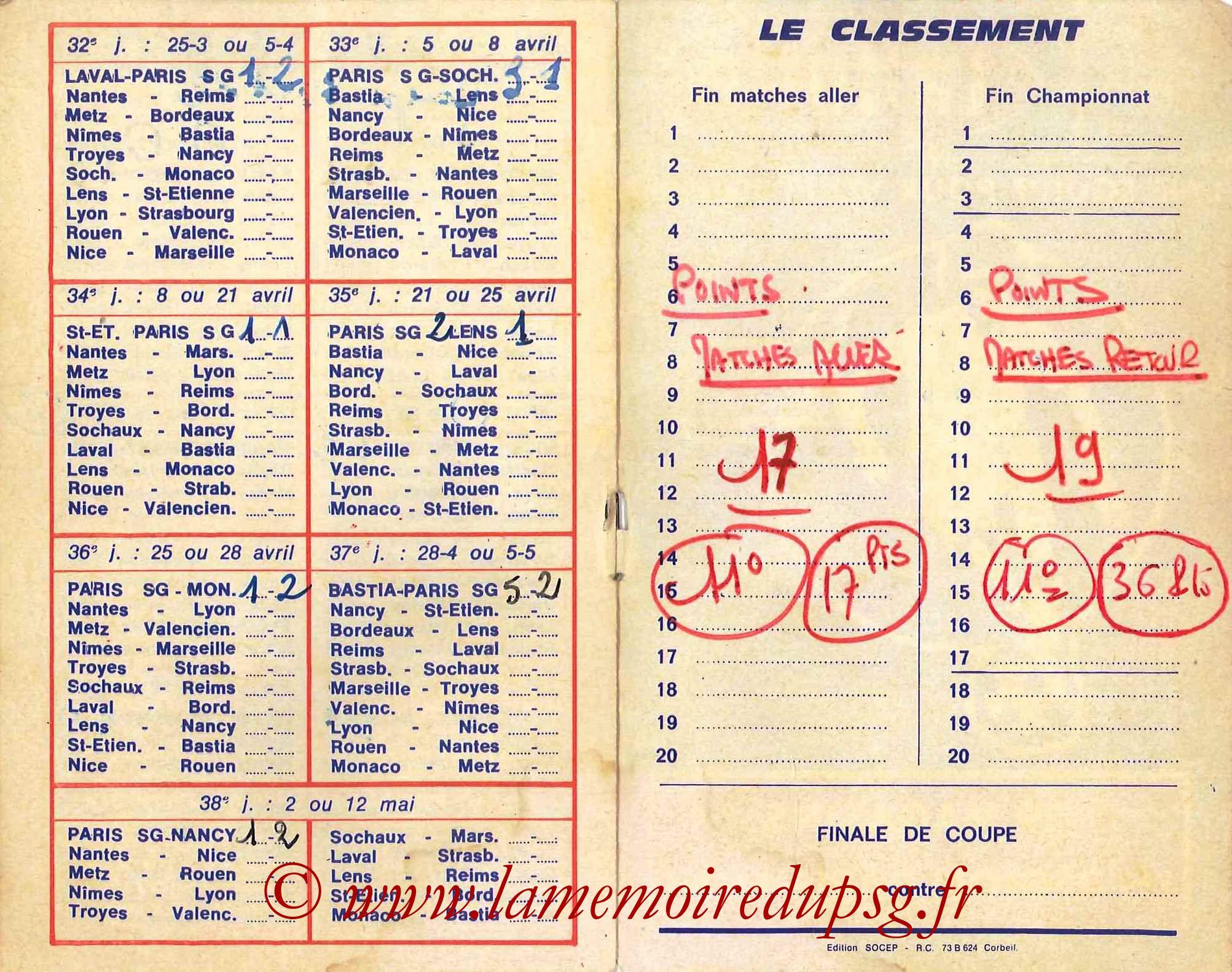 1977-78 - Guide de la Saison PSG - Pages 10 et 11