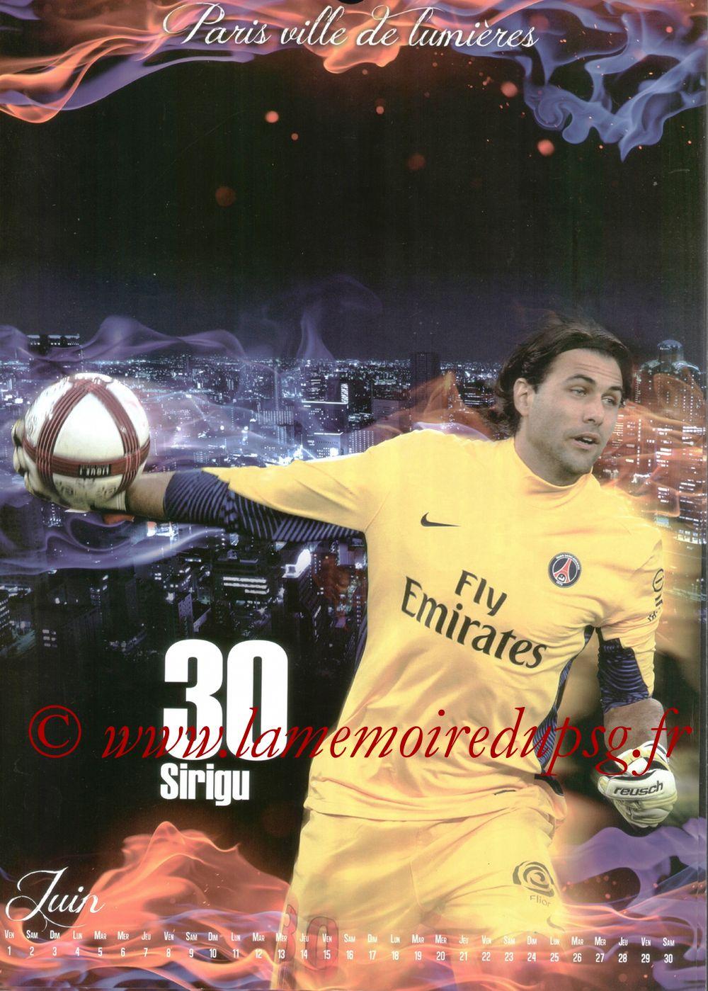 Calendrier PSG 2012bis - Page 06 - Salvatore SIRIGU