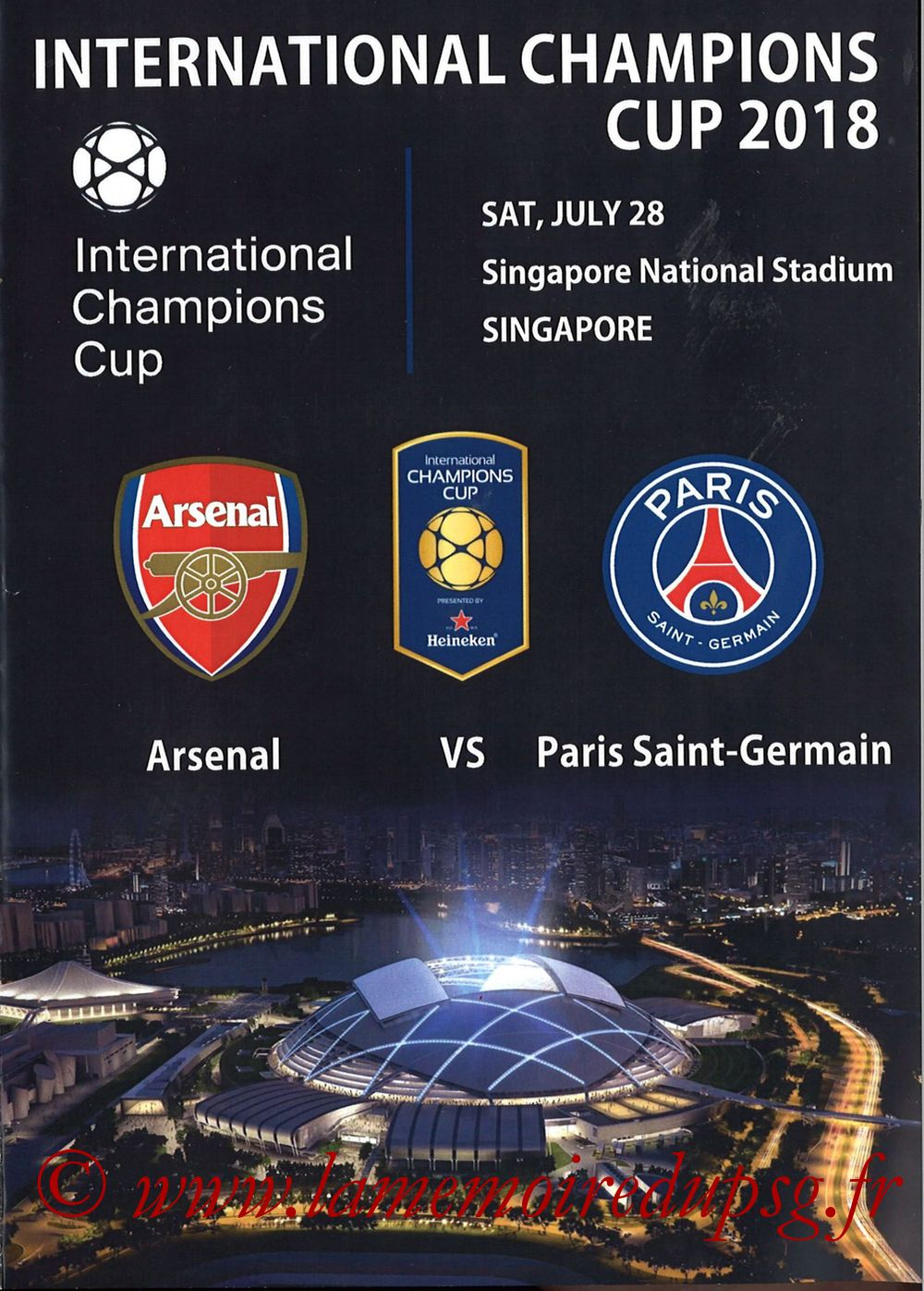 2018-07-28  Arsenal-PSG (International Champions Cup à Singapour, Programme pirate)