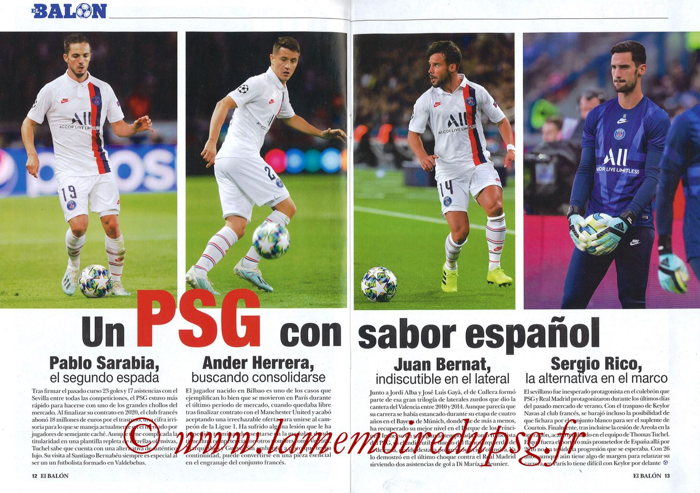 2019-11-26  Real Madrid-PSG (5ème C1, El Balon in the Game N°74) - Pages 12 et 13