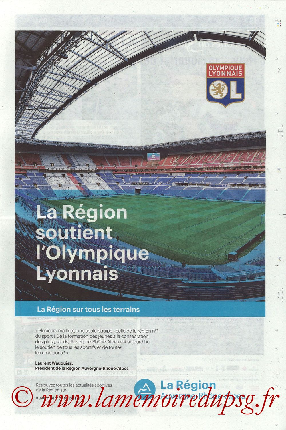 2018-01-21  Lyon-PSG (22ème L1, La Tribune OL N° 244) - Page 17