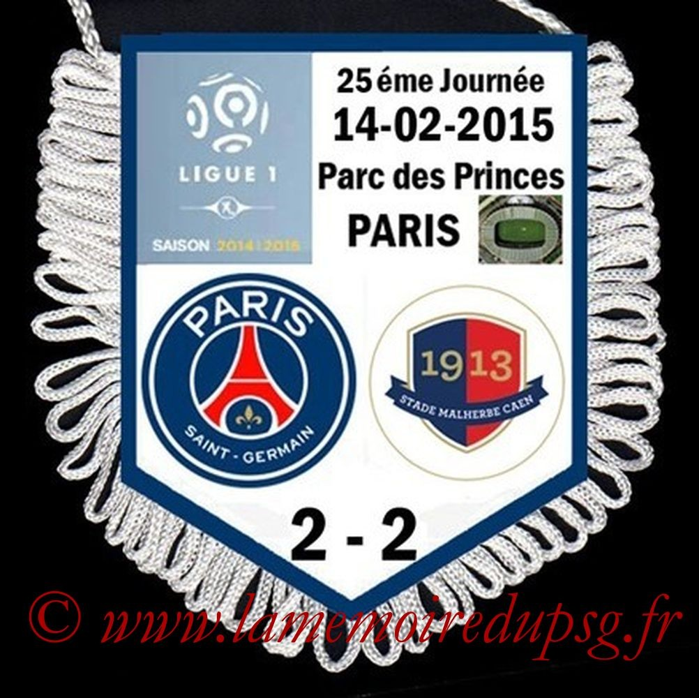 2015-02-14  PSG-Caen (25ème L1)