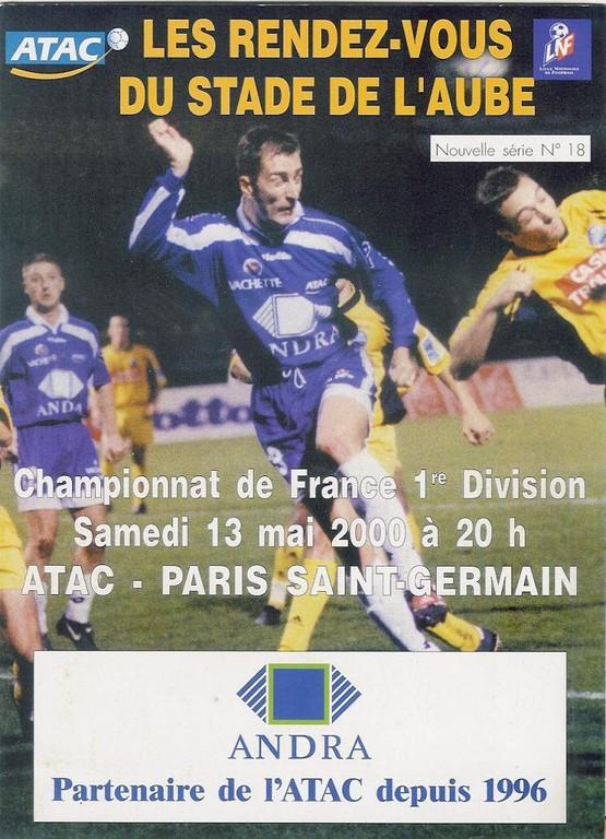 2000-05-13  Troyes-PSG (34ème D1, Les RDV du stade de l'Aube N°18)