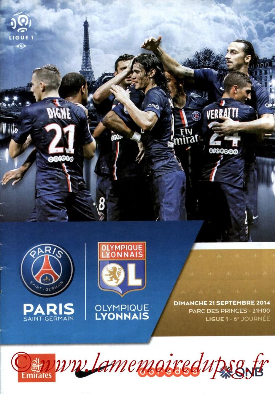 2014-09-21  PSG-Lyon (6ème L1, Programme officiel VIP)