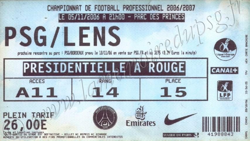 2006-11-05  PSG-Lens (12ème L1, bis)