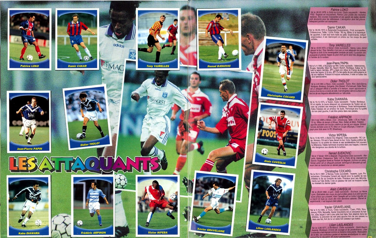 1997-98 - Panini Superfoot - Pages 20 et 21 - Les attaquants