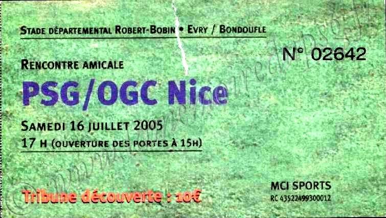 2005-07-16  PSG-Nice (Amical à Evry Bondoufle)