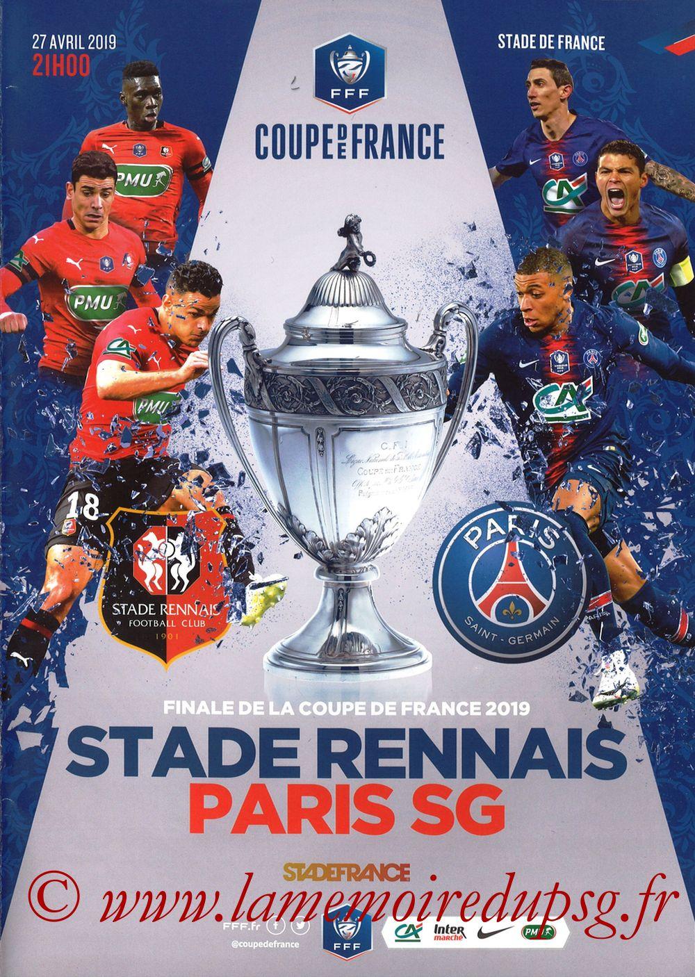 2019-04-27  Rennes-PSG (Finale CF au Stade de France, Programme officiel FFF)
