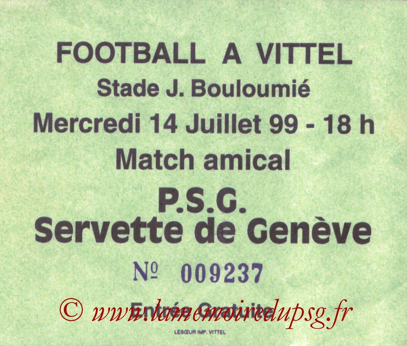 1999-07-14  PSG-Servette Genève (Amical à Vittel)