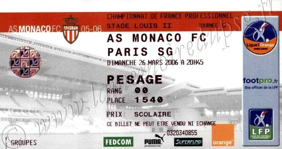 2006-03-26  Monaco-PSG (32ème L1)
