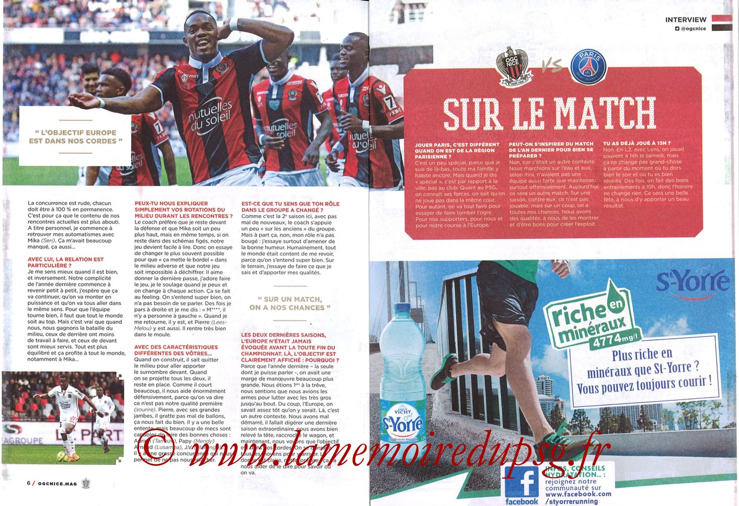 2018-03-18  Nice-PSG (30ème L1, OGC Nice Mag N°306) - Pages 06 et 07