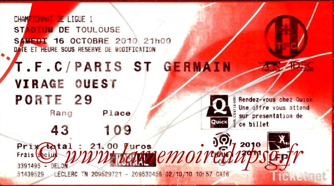 2010-10-16  Toulouse-PSG (9ème L1, Ticketnet)