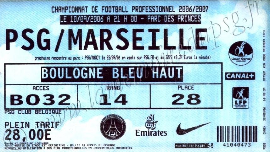 2006-09-10  PSG-Marseille (5ème L1, bis)