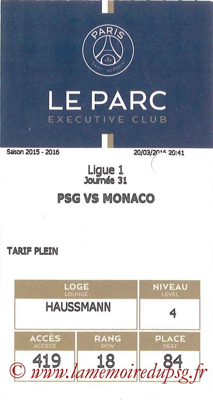 2016-03-20  PSG-Monaco (31ème L1, E-ticket Executive club)