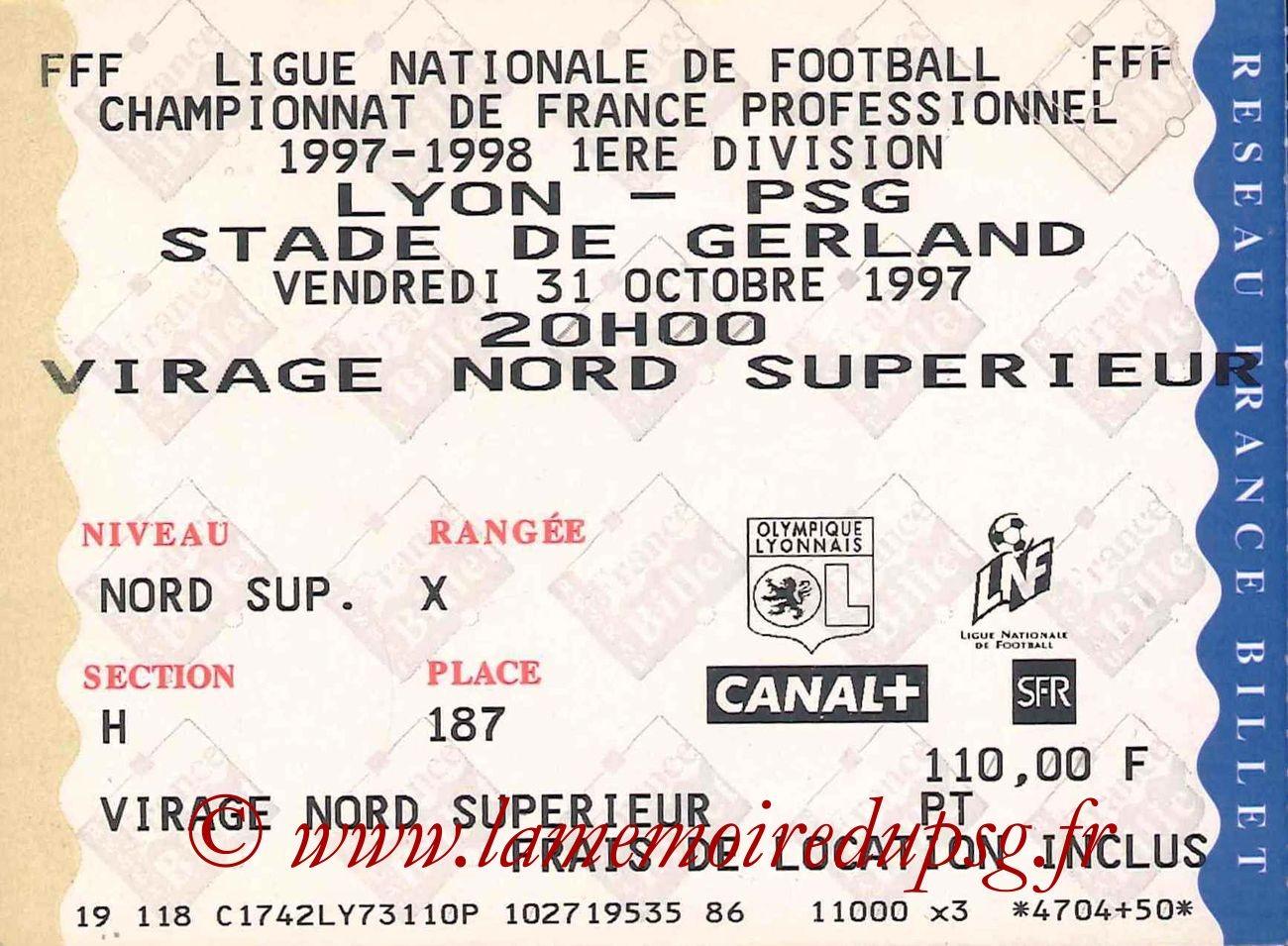 1997-10-31  Lyon-PSG (14ème D1)