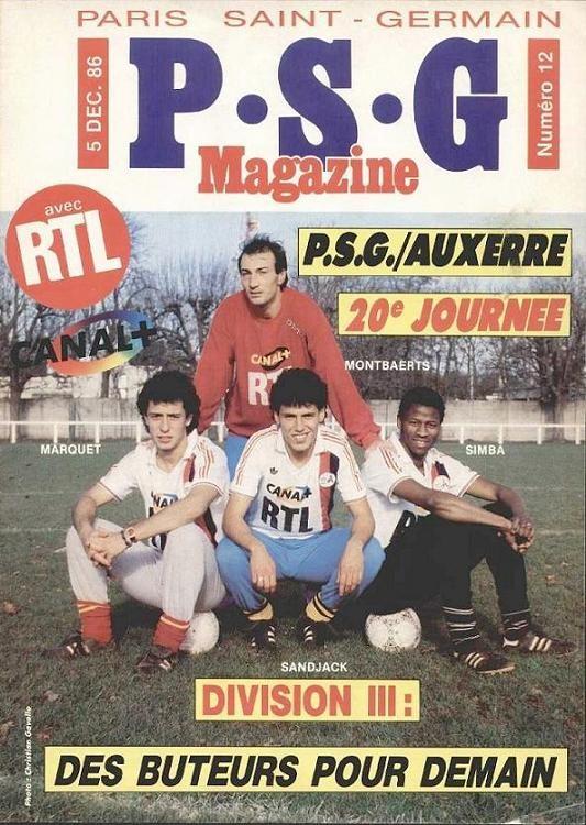1986-12-05  PSG-Auxerre (20ème D1, PSG Magazine N°12)