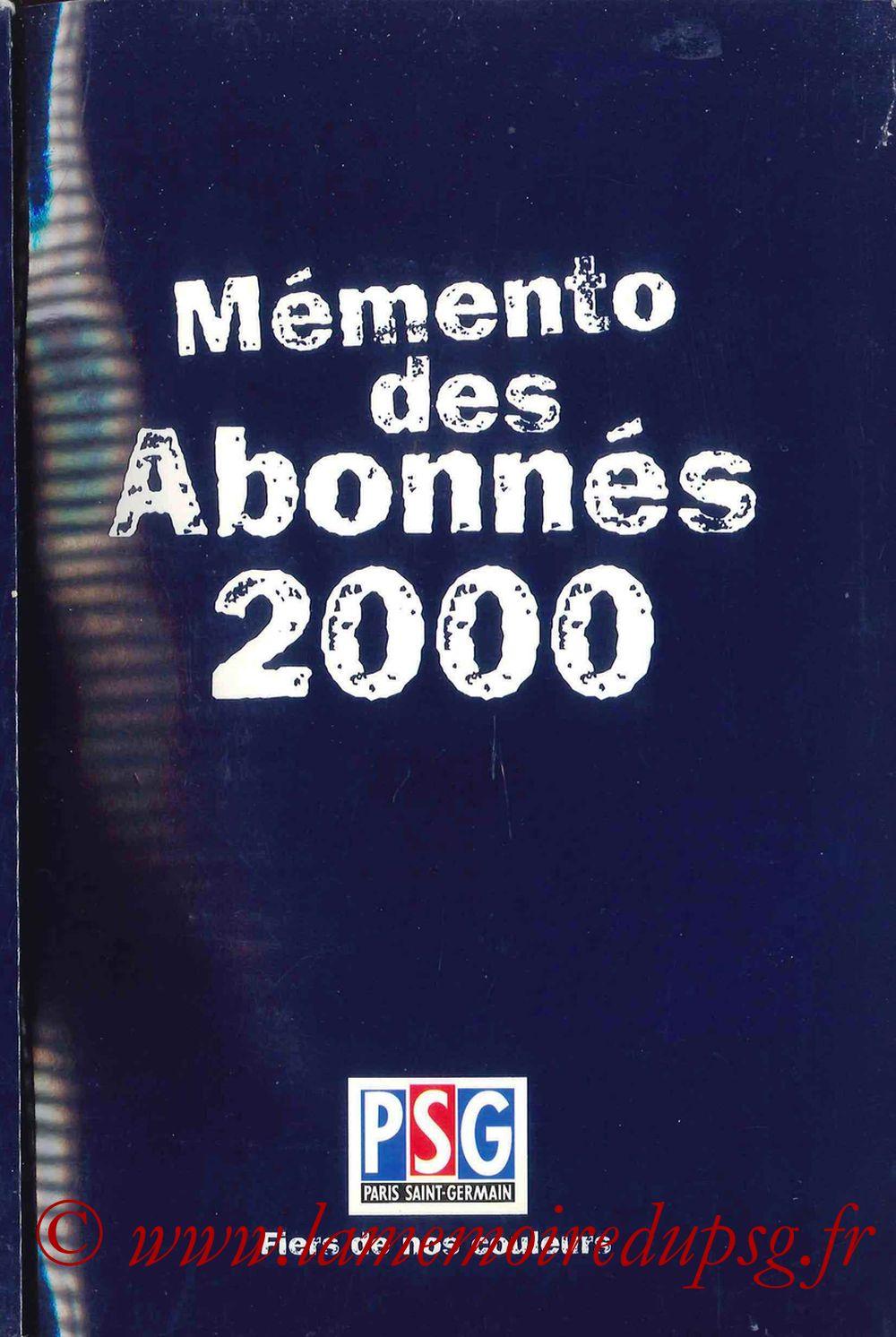 2000-01 - Guide de la Saison PSG - Couverture