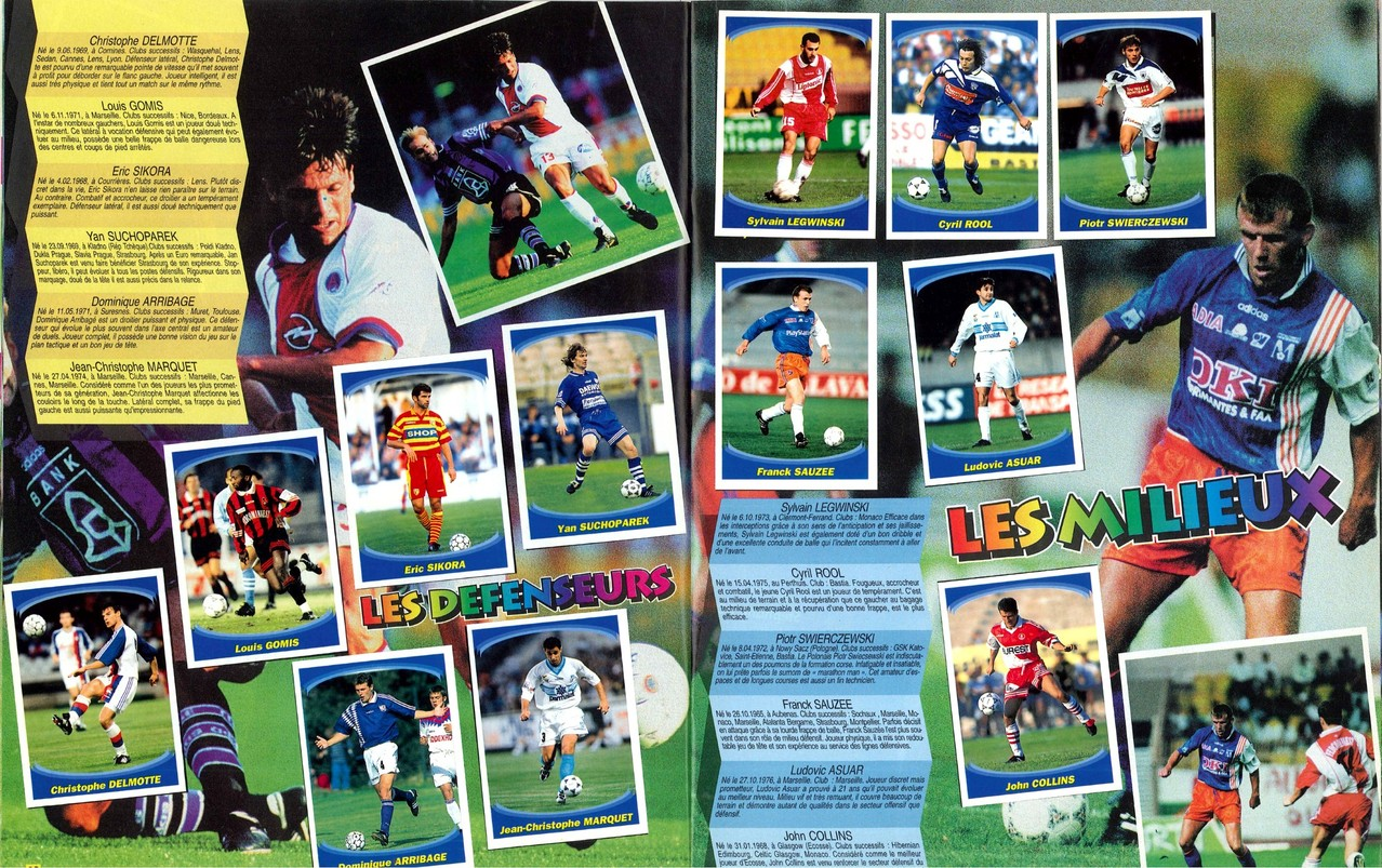 1997-98 - Panini Superfoot - Pages 12 et 13 - Les défenseurs et les milieux
