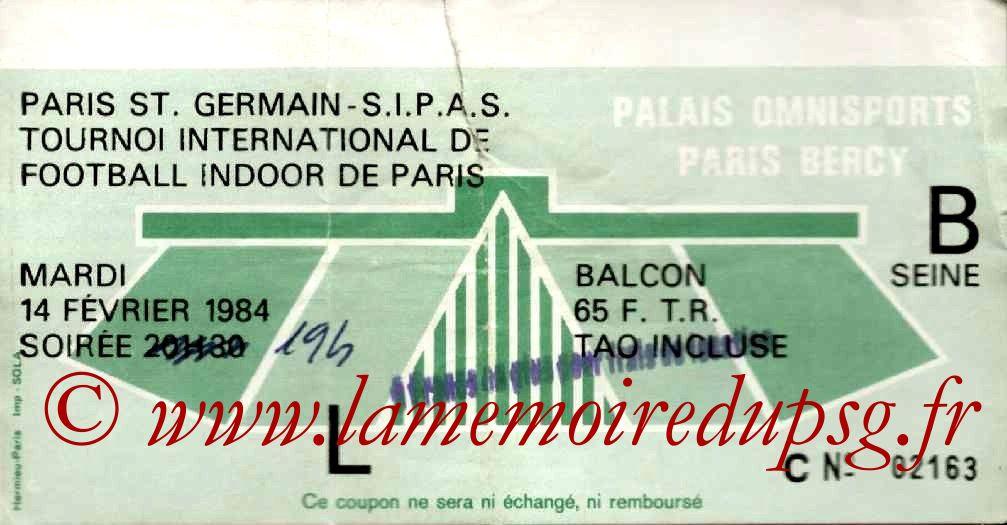 1984-02-14  PSG-Hambourg et PSG-Tizi Ouzou (1er Foot Indoor à Bercy)