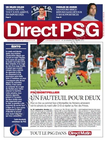 2012-02-19  PSG-Montpellier (24ème L1, Direct PSG N°27)