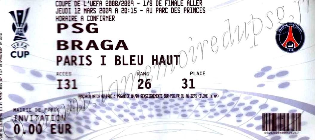 2009-03-12  PSG-SC Braga (8ème Finale Aller C3)