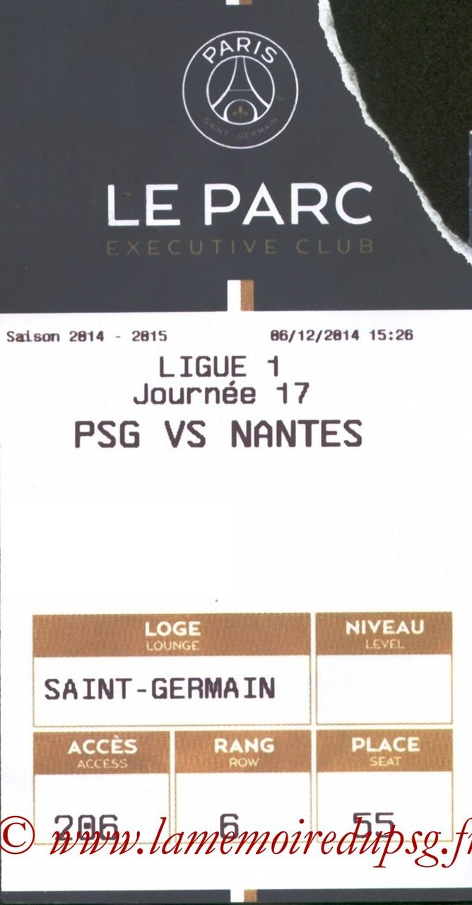 2014-12-06  PSG-Nantes (17ème L1, E-ticket Executive club)