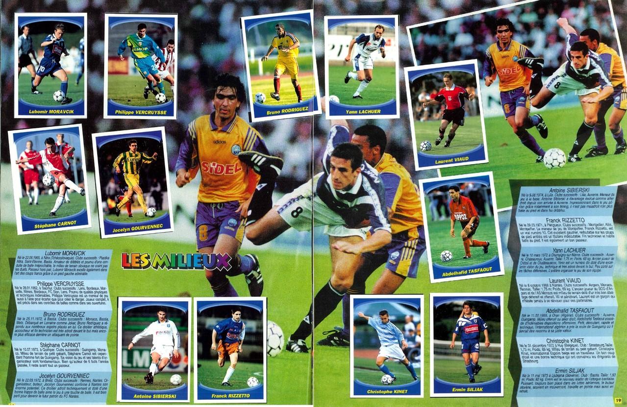 1997-98 - Panini Superfoot - Pages 18 et 19 - Les milieux