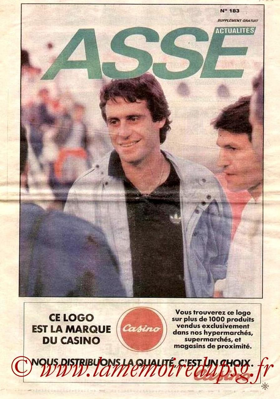 1986-08-15  Saint Etienne-PSG (4ème D1, ASSE Actualités N°183)