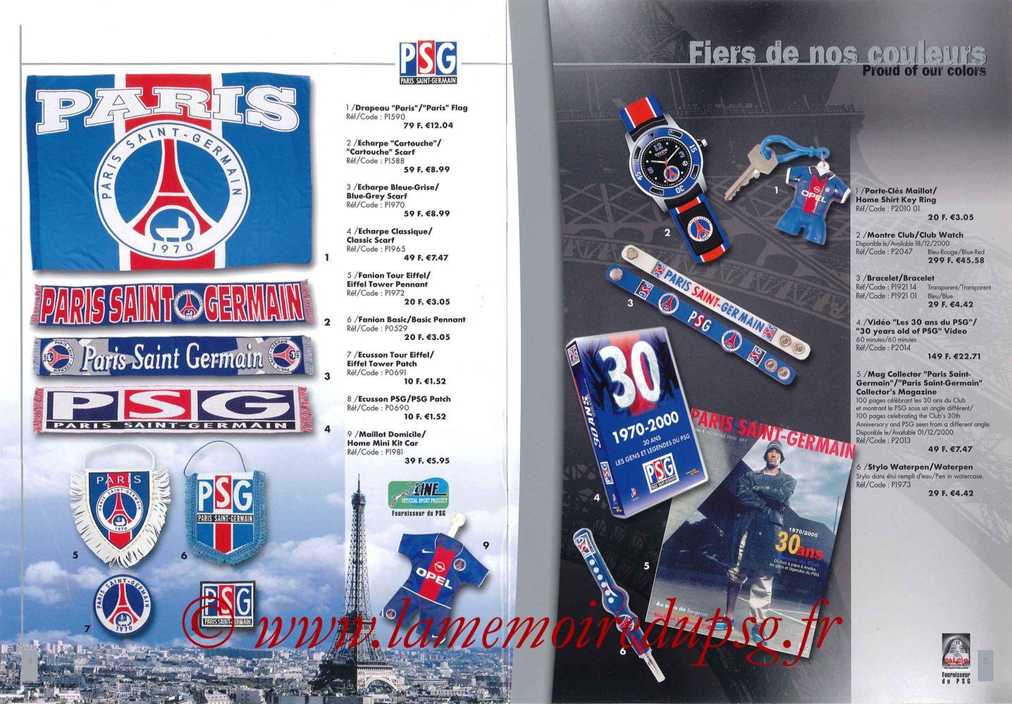 Catalogue PSG - 2000-01 - Pages 04 et 05