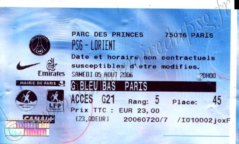 2006-08-05  PSG-Lorient (1ère L1, Billetel)