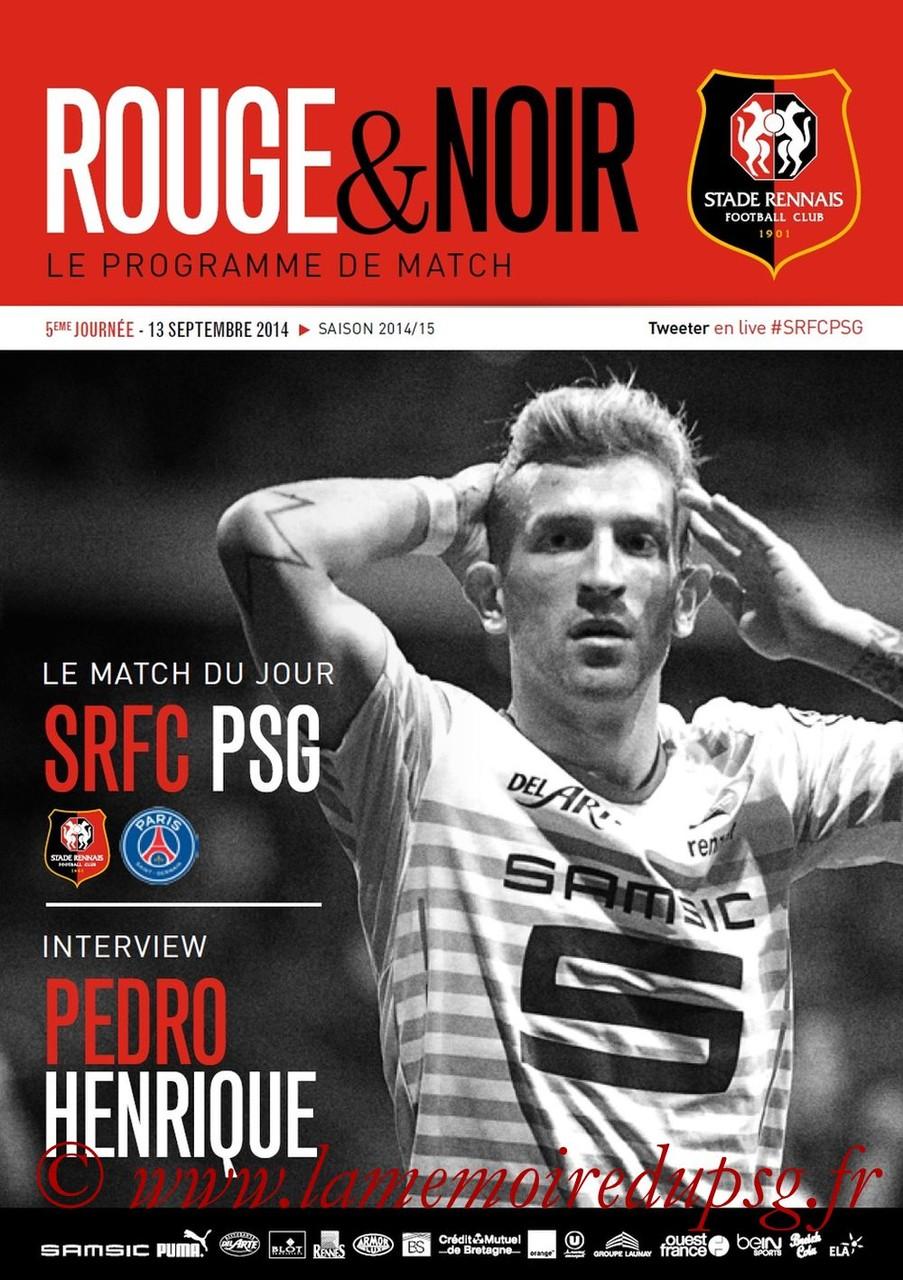 2014-09-13  Rennes-PSG  (5ème L1, Rouge & Noir)