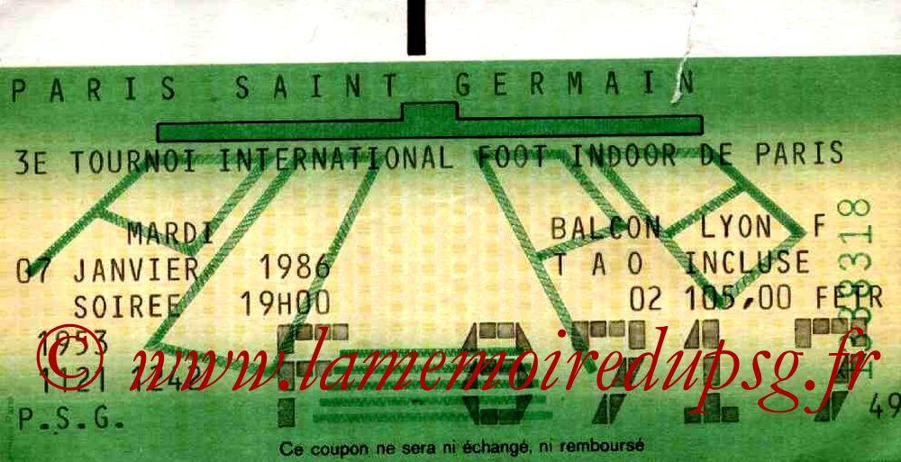 1986-01-07  PSG-Hadjuk Split (3ème Foot indoor à Bercy, 2ème journée)