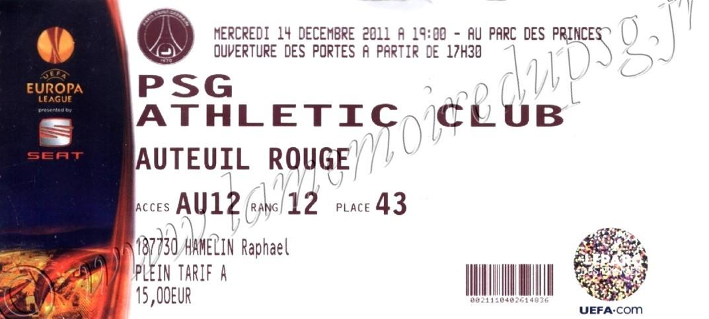 2011-12-14  PSG-Athletic Bilbao (6ème poule C3)