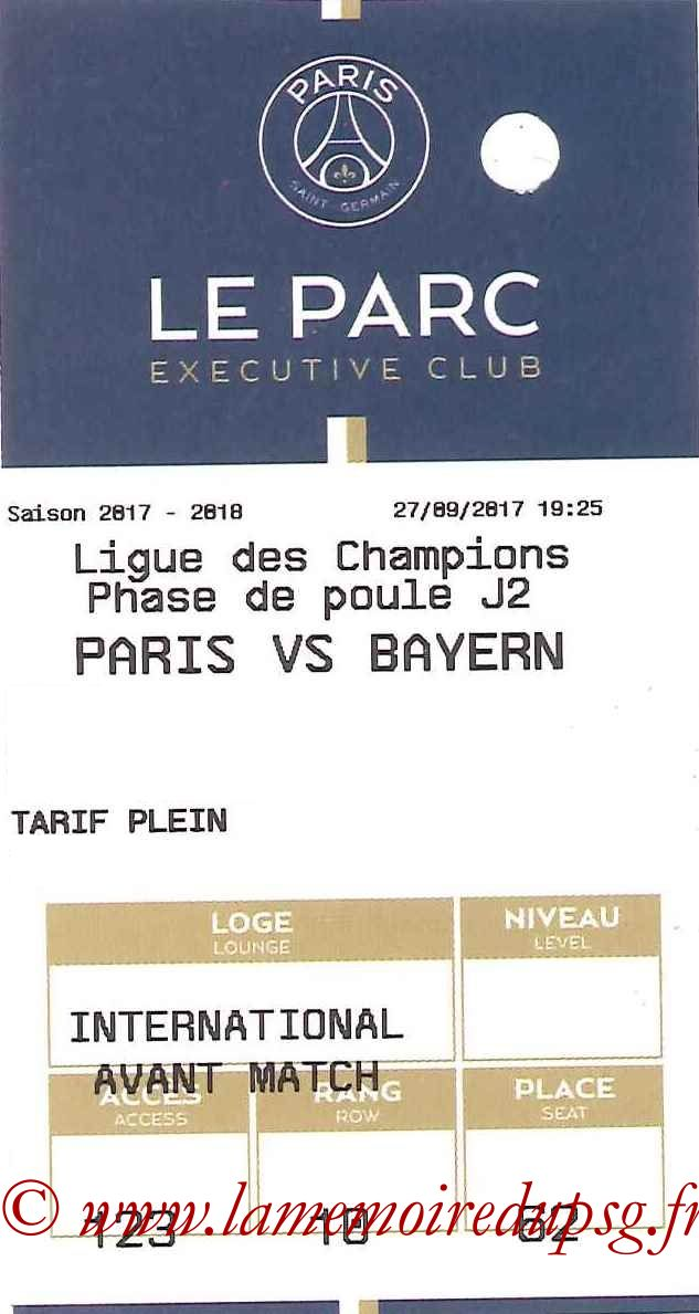 2017-09-27  PSG-Bayern (2ème C1, E-ticket Executive club 2)